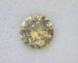 PRECISION CUT .48ct Greenish Yellow Brilliant Cut Chrysoberyl VVS, JD19