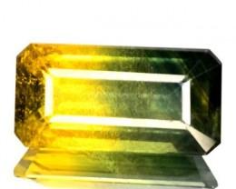 3.35 Cts Natural Corundum Sapphire Bi-Color Octagon Cut Srilanka Gem