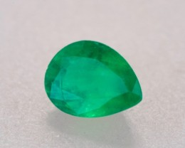 1.06ct Emerald Pear Cut (Zambian)