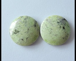 32.5Cts Pair Natural Serpentine Gemstone Cabochons(C0103)