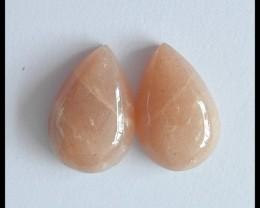 29.5Cts Natural Sunstone Cabochon Pair