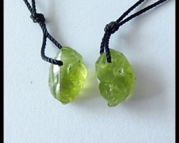 7.5cts Natural Perodot Earring Beads