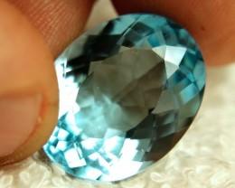 1$NR - 20.85 Carat VVS Blue Brazil Topaz - Gorgeous