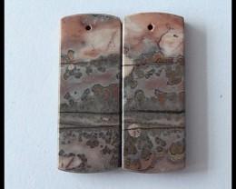 Sale 37cts Natural Chohua Jasper Earring Beads ,Healing Stone B102