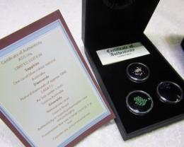 Treasures of the world ,Sapphire ,Diamonds,Emeralds, AOS 104