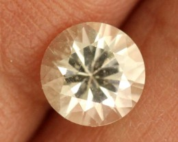 1.08 cts CERTIFIED WHITE SAPPHIRE FACETED  GEMSTONE   TBM- 774    GC