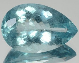 21.05 Cts Natural Blue Aquamarine Pear Cut Brazil Gem