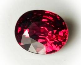 3.45ct Magenta Crimson Rhodolite Garnet - Glorious Rich fire within