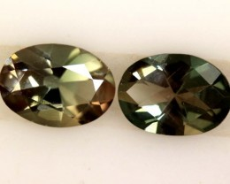 1.10 CTS SUNSTONE  FACETED PAIR  CG-2021