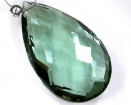 16 CTS GREEN QUARTZ FACETED BRIOLETTE  ANGC-331