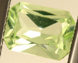 1.50 CTS PREHNITE FACETED GEMSTONE ANGC-334