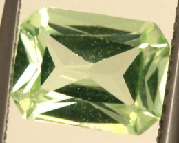1.60 CTS PREHNITE FACETED GEMSTONE ANGC-337