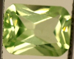 1.80 CTS PREHNITE FACETED GEMSTONE ANGC-339