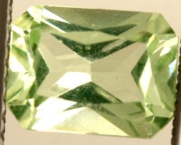 1.60 CTS PREHNITE FACETED GEMSTONE ANGC-340