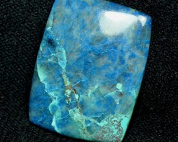 72ct Shattuckite azurite blue cabochon AAA colors 41mm