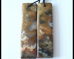 39.5Cts Natural Ocean Jasper Earring Beads