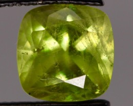 1.98cts Chrome Sphene cushion-cut from Madagascar
