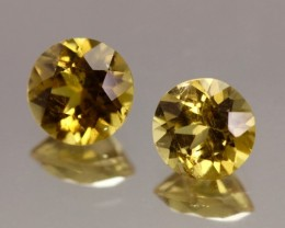 2.22cts Bright Yellow Tourmaline Pair from Madagascar