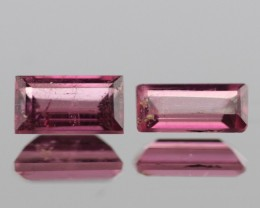 1.61cts Pink Tourmaline Pair from Madagascar