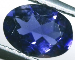 0.55 CTS TANZANITE FACETED VIOLET BLUE RNG-342