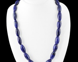 Genuine 535.00 Cts Blue Lapis Lazuli Beads Necklace
