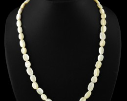 Genuine 170.00 Cts Mother Pearl Untreated Beads Necklace