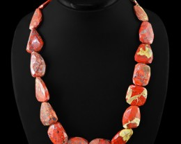 Genuine 630.00 Cts Mookaite Faceted Beads Necklace