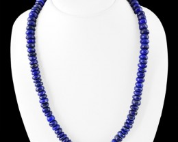 Genuine 455.00 Cts Blue Lapis Lazuli Untreated Beads Necklace