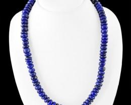 Genuine 540.00 Blue Lapis Lazuli Untreated Beads Necklace