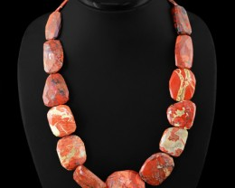 Genuine 755.00 Cts Mookaite Faceted Beads Necklace