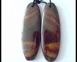 40Cts Natural Mookaite Jasper Earring Beads