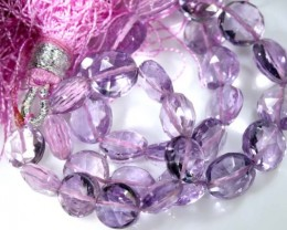 42 CTS QUALITY PINK AMETHYST FACETED BEADS STRAND ANGC-350