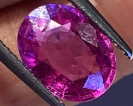 2.06 CTS CERTIFIED PINK SAPPHIRE FACETED  GEMSTONE BANGKOK