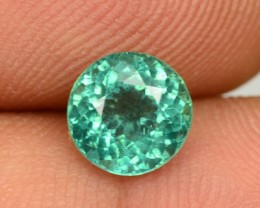 1.36 Cts Natural Blue Green Apatite Round Faceted Brazil Gem