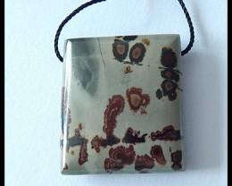 41.5cts Natural Chohua Jasper Pendant Bead