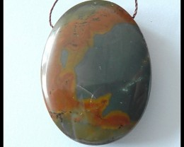 91cts Natural US Picture Jasper Pendant Bead