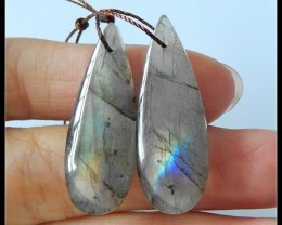 28Cts Natural Labradorite Earring Beads