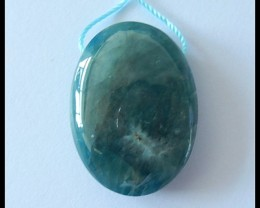 48Cts Natural Blue Apatite Gemstone Pendant Bead