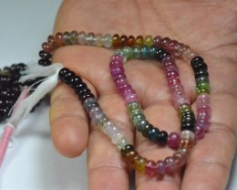 5.5mm 15 inch line Watermelon Tourmaline AA+ beads