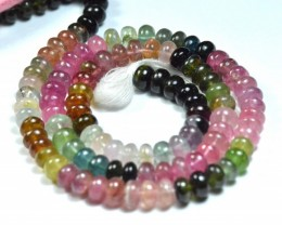 "SALE 5.5mm 7"" line Watermelon TOURMALINE beads AA+ quality tou021"
