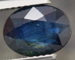 2.65ct NATURAL DARK BLUE UNHEATED SAPPHIRE OVAL CUT GEMSTONE