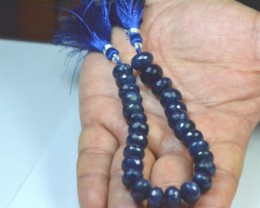 "8"" line 11mm to 10.5mm Sodalite sapphire blue faceted beads 22 beads s"