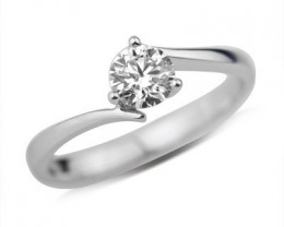 SALE!!GIA CERTIFIED- 18K WHITE GOLD-1.00ct Round E-VS1