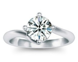 SALE!!GIA CERTIFIED-  18K WHITE GOLD-1.25ct Round H-VS2