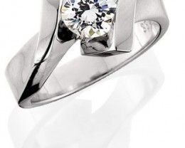 SALE!! GIA CERTIFIED- 18K WHITE GOLD-1.01ct Round H-VS2