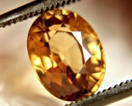 2.53 Carat Flashy Golden VVS Zircon