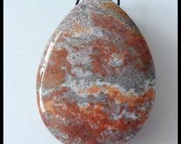 110Cts Natural Ocean Jasper Gemstone Pendant Bead