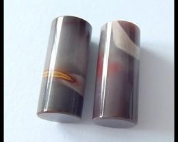 30.5Cts Natural Mookaite Jasper Gemstone Pair