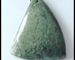 68cts Natural Moss Agate Gemstone Pendant Bead (D0014)