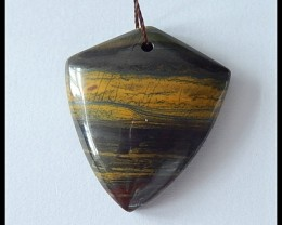 47.5Cts Natural Tiger Eye Pendant Bead
